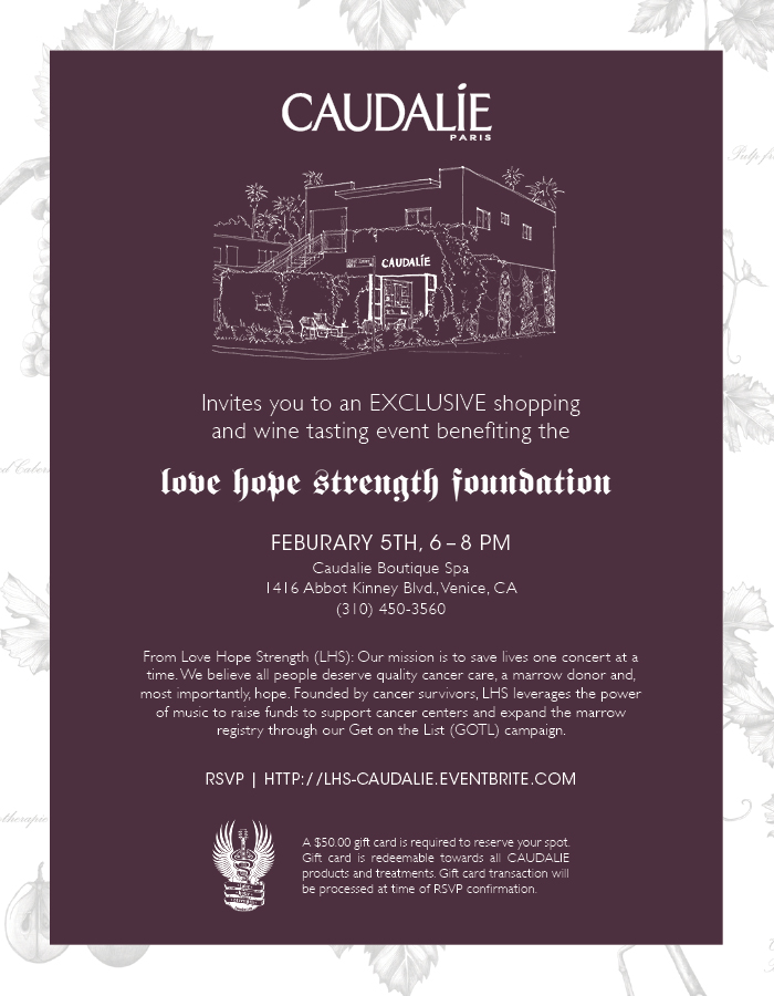 Caudalie exclusive shopping and wine tasting event