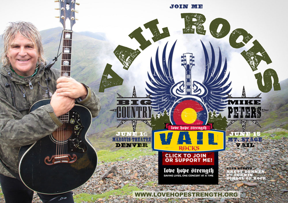 Mike Peters and Big Country to attend Vail Rocks